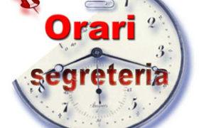 ATTENZIONE!! ORARI Segreteria provinciale